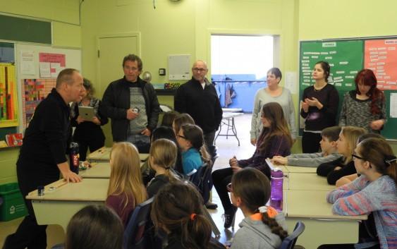Yvan Rhéault, semeur de Québec à l'école de Laleu
